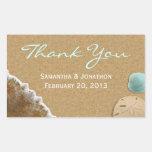 Sand and Shells Beach Theme Wedding Thank You