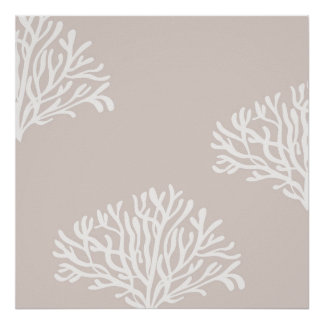 Sand and White Coral Poster