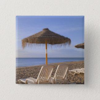 Sand Beach Chairs with Umbrella 15 Cm Square Badge