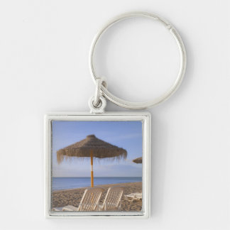 Sand Beach Chairs with Umbrella Key Ring