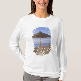 Sand Beach Chairs with Umbrella T-Shirt