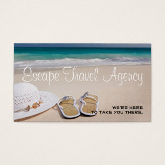 Sand Beach Travel Agency Agent Business Card