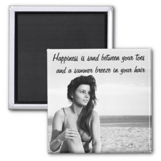 Sand Between Your Toes Quote Magnet