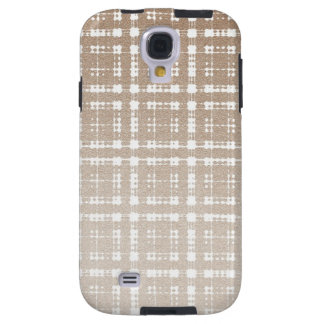 Sand Brown Color Modern Plaid Netted Ombra 2 Galaxy S4 Case