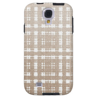 Sand Brown Color Modern Plaid Netted Ombra 4 Galaxy S4 Case