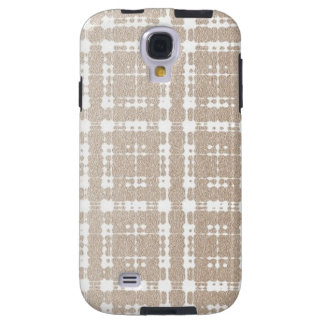 Sand Brown Color Modern Plaid Netted Ombra 5 Galaxy S4 Case