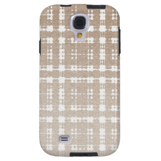 Sand Brown Color Modern Plaid Netted Ombra 6 Galaxy S4 Case
