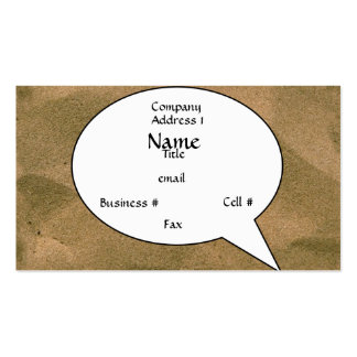 Sand Bubble Card (DemiTBold) Pack Of Standard Business Cards