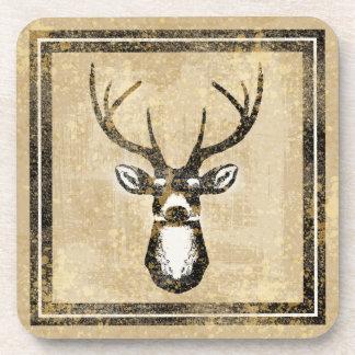 Sand Camo Grunge Deer Buck Coaster