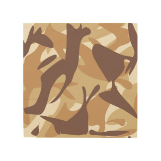 Sand Camouflage Wood Print