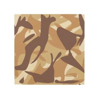 Sand Camouflage Wood Prints