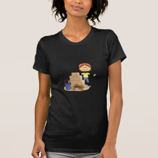 SAND CASTLE AND GIRL T-SHIRTS