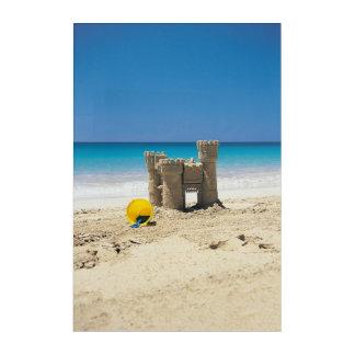 Sand Castle And Pail On Tropical Beach Acrylic Wall Art
