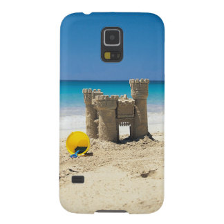 Sand Castle And Pail On Tropical Beach Galaxy S5 Cover