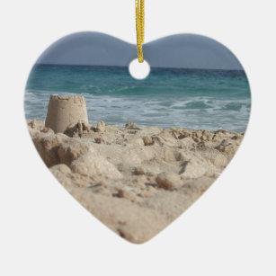 sand castle christmas ornament