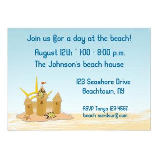 Sand Castle Invitation