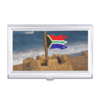Sand Castle With South African Flag, Umhlanga Business Card Holder