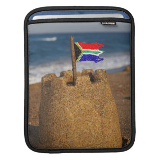 Sand Castle With South African Flag, Umhlanga iPad Sleeve
