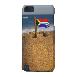 Sand Castle With South African Flag, Umhlanga iPod Touch (5th Generation) Case