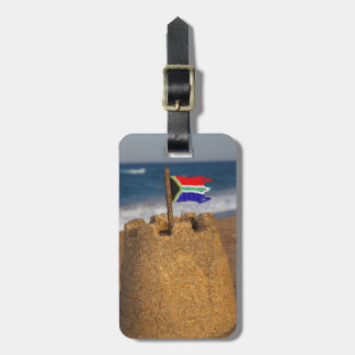 Sand Castle With South African Flag, Umhlanga Luggage Tag