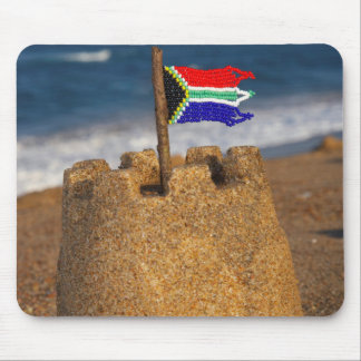 Sand Castle With South African Flag, Umhlanga Mouse Pad