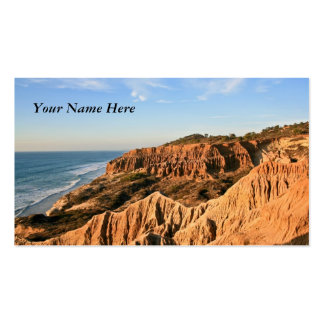 Sand Cliffs Panorama Pack Of Standard Business Cards