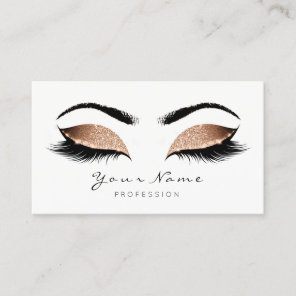 Sand Coffee Makeup Artist Lashes Beauty Studio Appointment Card