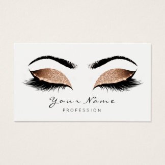 Sand Coffee Makeup Artist Lashes Beauty Studio Business Card
