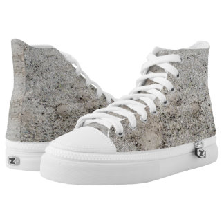 Sand Colored High Top Laced Shoes