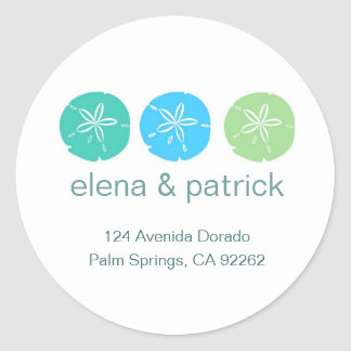 Sand Dollar Address Labels Stickers