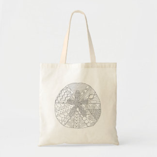 Sand Dollar Adult Coloring Full Tote