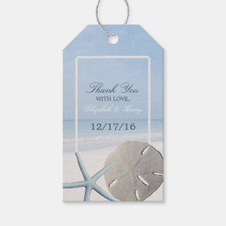 Sand Dollar and Starfish Beach Wedding Gift Tags