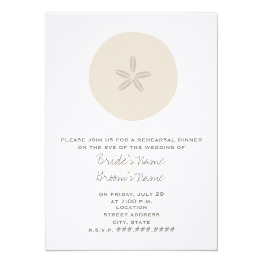 Sand Dollar Beach Rehearsal Dinner Invitation