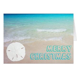 Sand Dollar Beach Tropical Christmas Cards