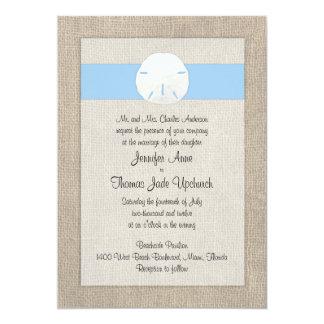 Sand Dollar Beach Wedding Invitation Sky Blue