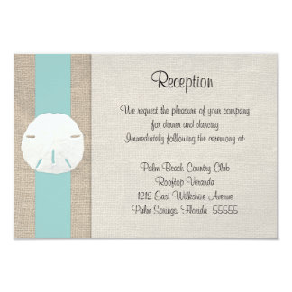 Sand Dollar Beach Wedding Reception Invitation Car