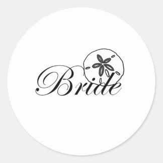 Sand Dollar Bride Round Sticker