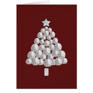 Sand Dollar Christmas Tree (red) Card