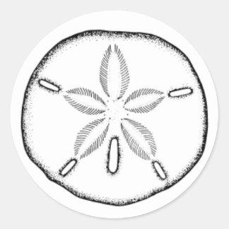 sand dollar classic round sticker