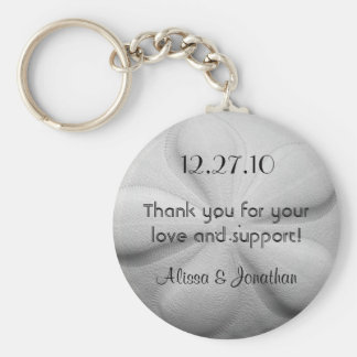 Sand Dollar Personalized Key Ring Wedding Favor Basic Round Button Key Ring