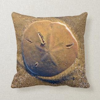 Sand Dollar Revealed On Beach | Hilton Head Island Throw Pillow
