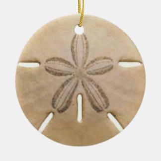 Sand dollar round ceramic decoration