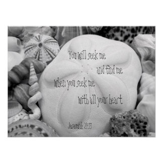 Sand Dollar Scripture Christian Wall Poster