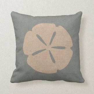 Sand Dollar Sea Shell Beach Blue Cushion