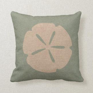 Sand Dollar Sea Shell Seafoam Green Cushion