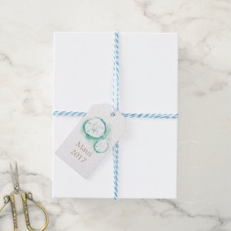 Sand Dollar Seafoam Favor Tags