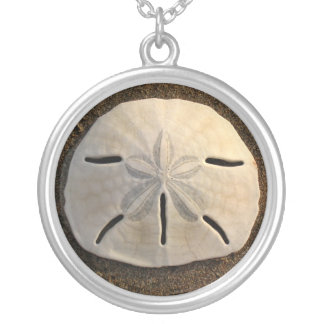 Sand Dollar Seashell Beach Silver Necklace Pendant