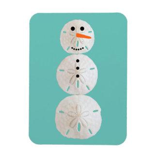 Sand Dollar Snowman Magnet