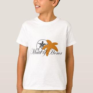 Sand Dollar Starfish Maid of Honor T-Shirt