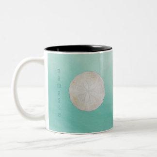 Sand Dollar Watercolor Namaste Coffee Cup